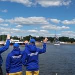 Торжественная церемония отбытия яхты «Акела»