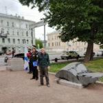 Открытие мемориального знака Валентину Пикулю